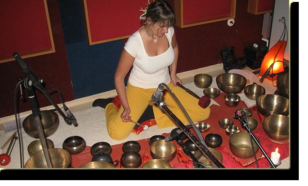 Kirsten im Studio